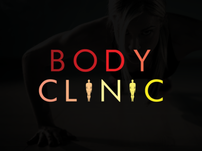 Body Clinic fitness sport typography logotype logo lettering identity branding