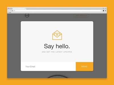 Get in touch update subscription subscribe notification newsletter email card minimal dailyui ui portfolio