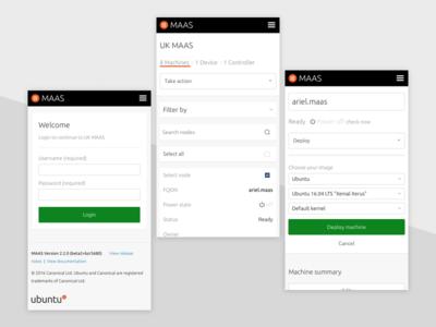 Responsive MAAS ubuntu server maas visual mobile app ui ux patterns responsive