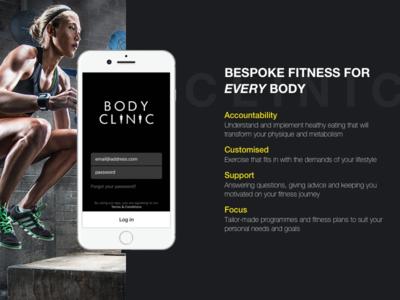 App Promotion shot promotion ux ui typography sport mobile logo fitness branding app