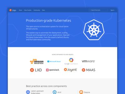 Kubernetes | Juju topic website juju k8 kubernetes ux ui ubuntu responsive design website