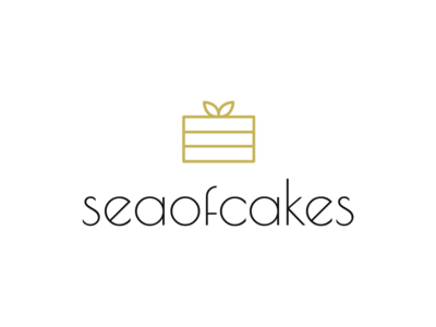 Sea of Cakes cake baking typography logotype logo lettering identity branding