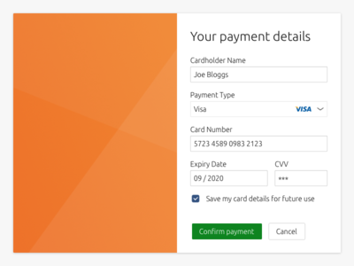 Daily UI challenge #002 — Credit Card Checkout daily ui challenge checkout card credit vanilla design system components