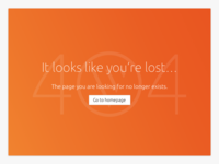 Daily UI challenge #006 — 404 Page