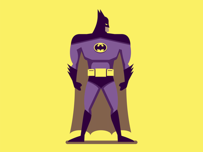 Batman dc three color illustration batman