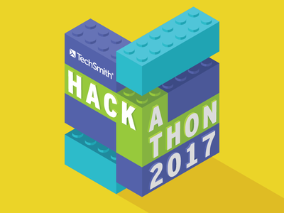 Company Hackathon Art hackathon legos blocks isometric logo
