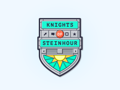 Knights of Steinhour Sticker crest shield jing retro os sticker
