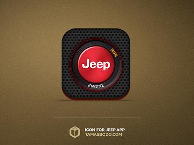Jeep app icon ps icon design