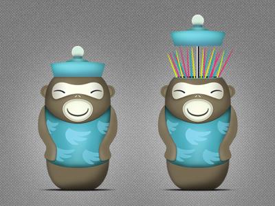 Toothpick Monkey icon design