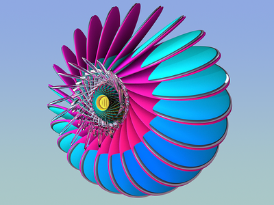 Playing with colours colours fractal c4d