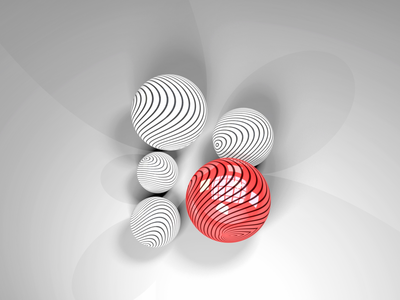 White & Red white red experiment c4d