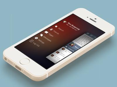 Clique iOS7-esque Sidebar