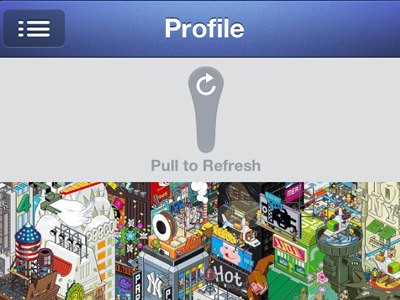 Refreshing a FB profile in Clique