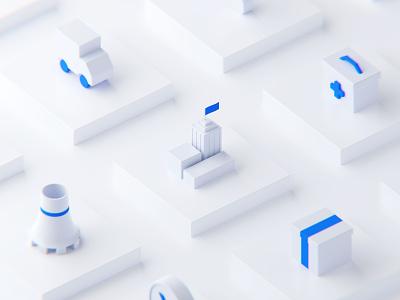 Isometric icon_3D vector icon design