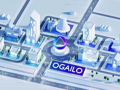 White city for AI 3d