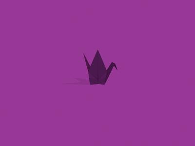 Paper Crane design illustration mark logo crane vector svg origami