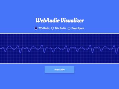 WebAudio Visualizer frequency graph css html design layout ui oscilloscope javascript audio web audio