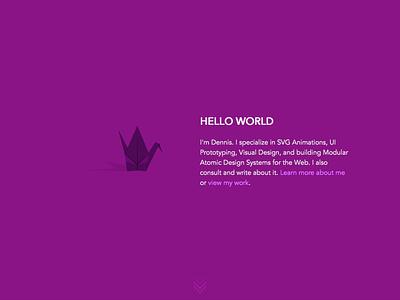 Hello World website web interface interface design ui layout html vector logo illustration css svg development design typogaphy