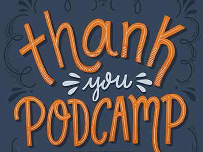 Thank You Podcamp Halifax 2017 illustration handlettering lettering