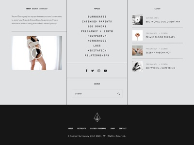 Footer Design wordpress magazine menu ecommerce ux header landing page typography brand identity webdesign ui footer website