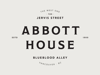 Abbott House kerning typekit typography layout typesetting fonts typefaces house vancouver
