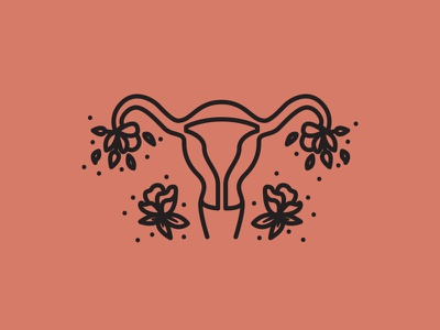 5/5 Sacred Icon feminine feminist feminism spiritual celestial logo illustration logomark reproduction line icon line art icon artwork iconography icon uterus brand identity
