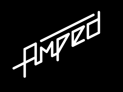 Amped logotype typeface custom amped