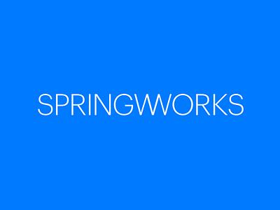 Springworks Logotype wordmark identity logotype springworks