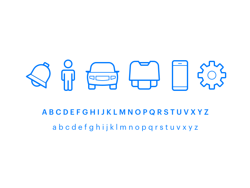 Springworks Icons typography identity icons springworks