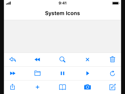 iOS System Icons product design ui ios icons
