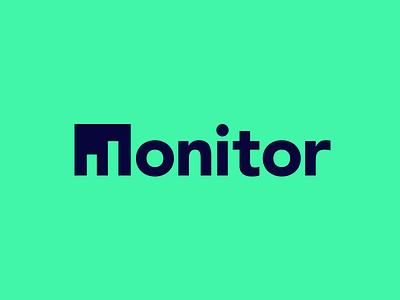 Monitor brand wordmark identity logotype