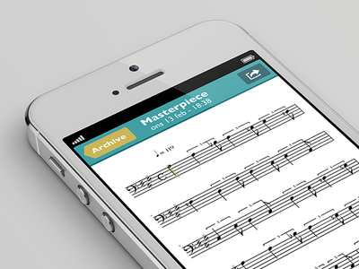 ScoreCleaner Notes for iOS (Musical annotations view)