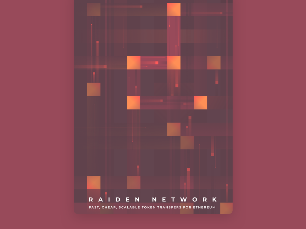 Raiden Network Poster poster art ethereum cryptocurrency