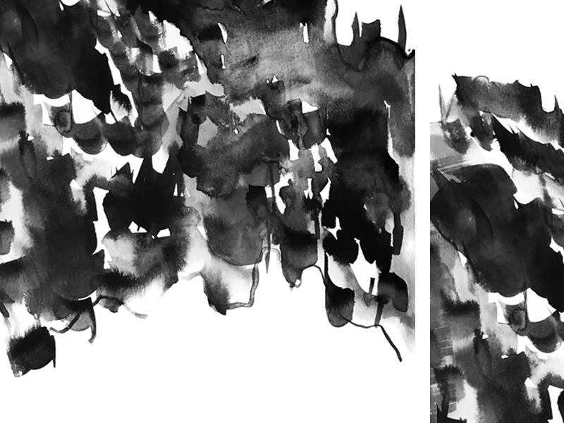 Ink Spotting wash transparent texture spots spot water mark black ink