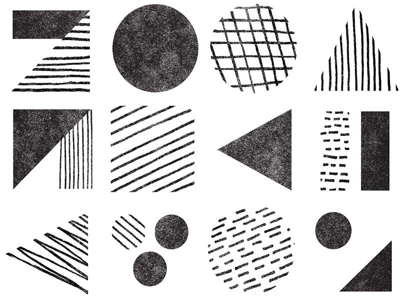 no.048 sketch hand-drawn geometry geometric lines black texture shapes shape