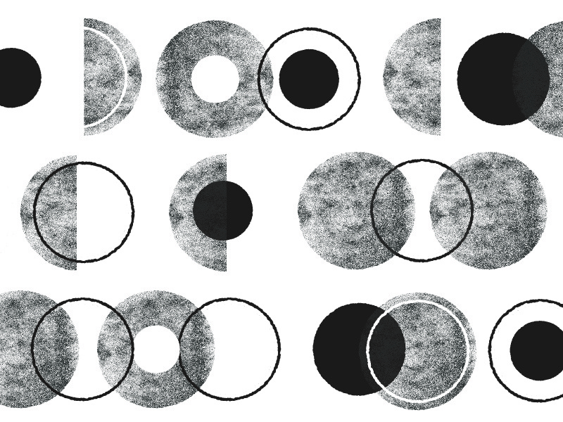 no.063 modern neutral grey white black round circles circle patterns texture pattern