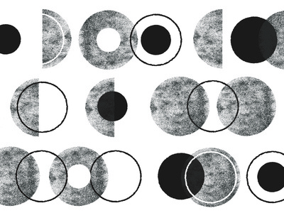 no.063 modern neutral grey white black round circles circle patterns texture pattern
