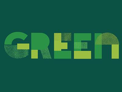 Block Type: green kids naive shapes shape letters illustration font texture type