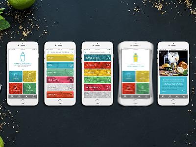 Drink App food drinks mobile iphone booze ux design app cocktails