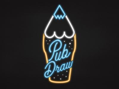 Pub Draw Logo critical role drawing art beer photoshop illustraor neon