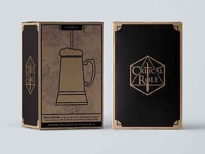 Critical Role Tankard Packaging ecommerce branding brown black box dd stein mug drink criticalrole tankard beer packaging