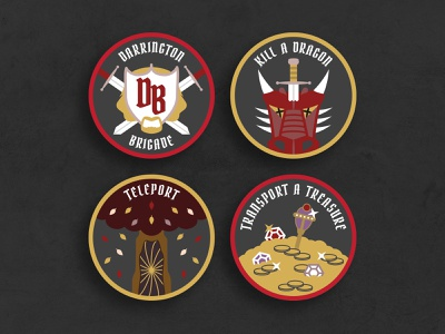 DND Achievement Patches logo rpg illustrator patches darrington critical role critters critter criticalrole dungeonsanddragons dungeons and dragons dungeons  dragons dnd