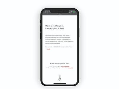 New site is live portfolio minimalist design website site personal clean