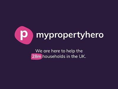 My Property Hero minimalist clean property management property logodesign design logo