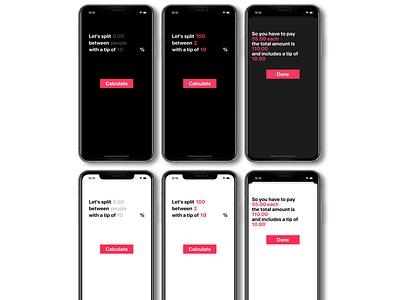 Bill Split! billing bill splitting mobile minimalist ios app ios design clean app app design