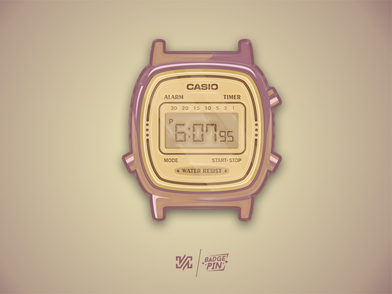 Casio Retro - Badge, Pin by Anh Ninh Vu | Dribbble | Dribbble