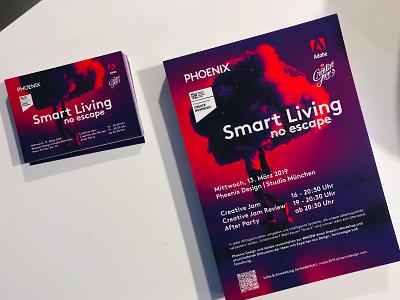 Munich Creative Business Week 2019 violet cloud munich mcbw poster event postcard print flyer