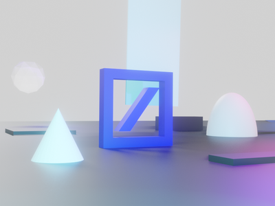 Playing around branding illustration colorful light ambient logodesign geometric objects logo blender3d blender