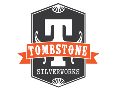 Tombstone Silverworks Logo logo clean two color western