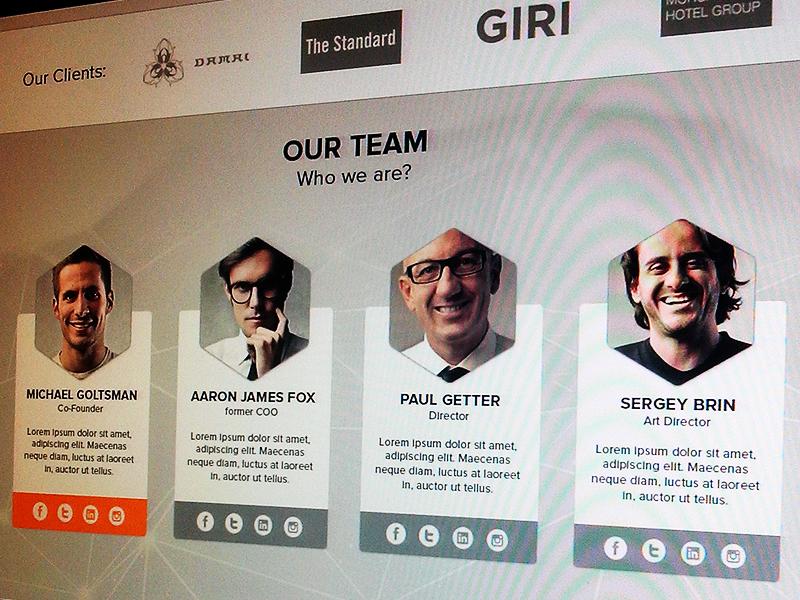 Team Page team polygon design interface ui ux web experiment client